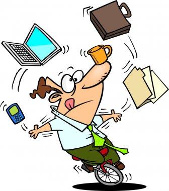 Cartoon Office Juggler