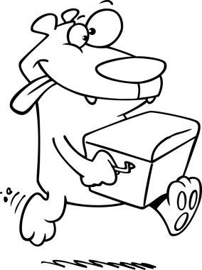 Cartoon Bear with Watercooler