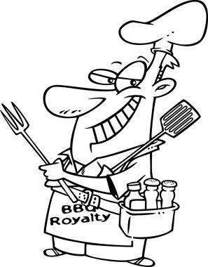 Cartoon Barbecue King