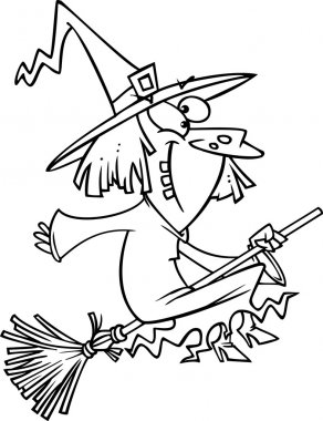 Cartoon Goofy Witch