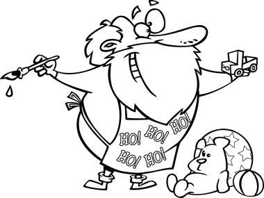 Cartoon Santa's Workshop