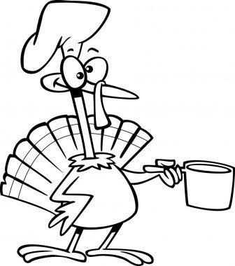 Cartoon Turkey Chef