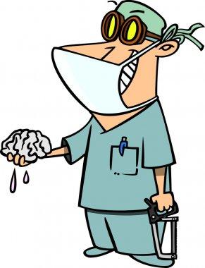 Cartoon Brain Surgeon