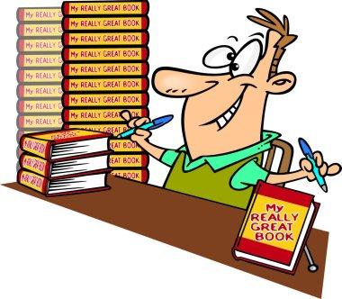 Cartoon Book Signing