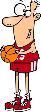Cartoon Tall Basketball Player