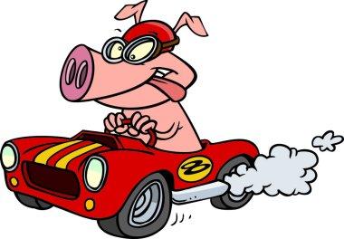 Cartoon Hot Rod Hog