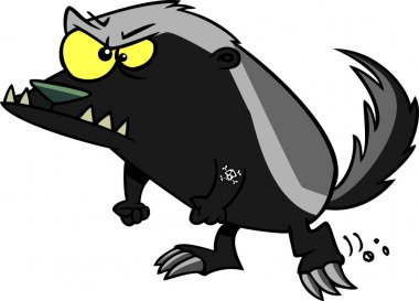 Cartoon Honey Badger