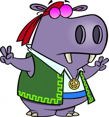 Cartoon Hippy Hippo