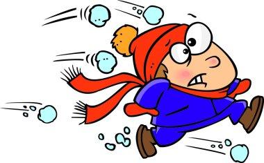 Cartoon Snowball Fight