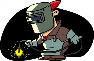 Cartoon Welder