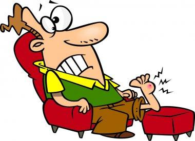 Cartoon Foot Pain