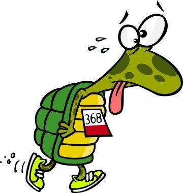 Cartoon Tired Turtle