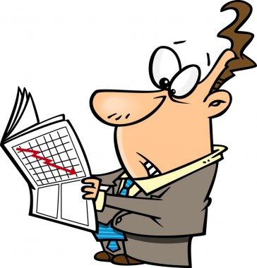 Cartoon Stock Market Crash