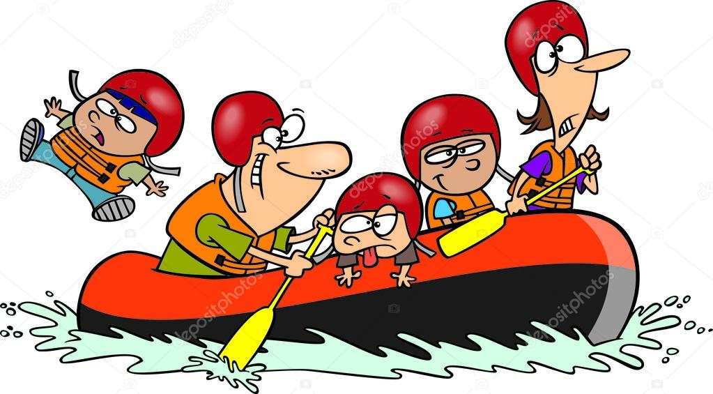 Whitewater Rafting Clipart
