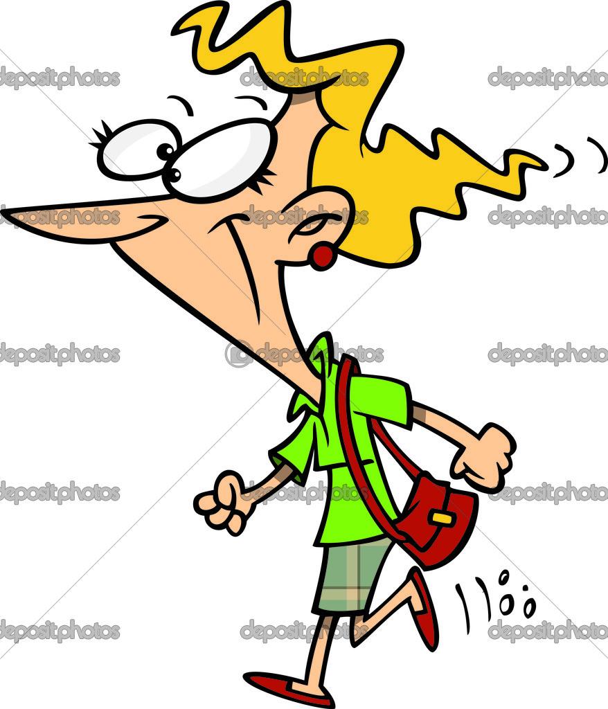 Kresleny Zena Chuze Rychle Stock Vektor C Ronleishman 14001427