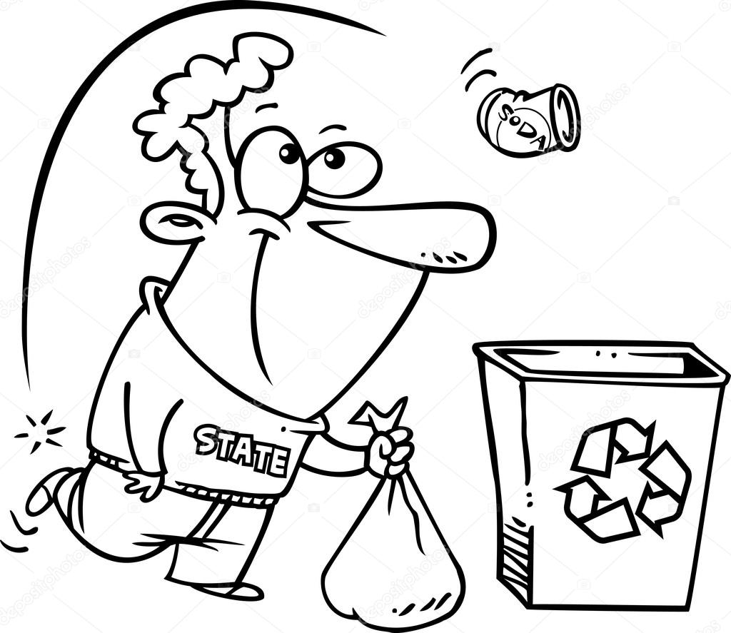 reciclagem dos desenhos animados vetores de stock ronleishman
