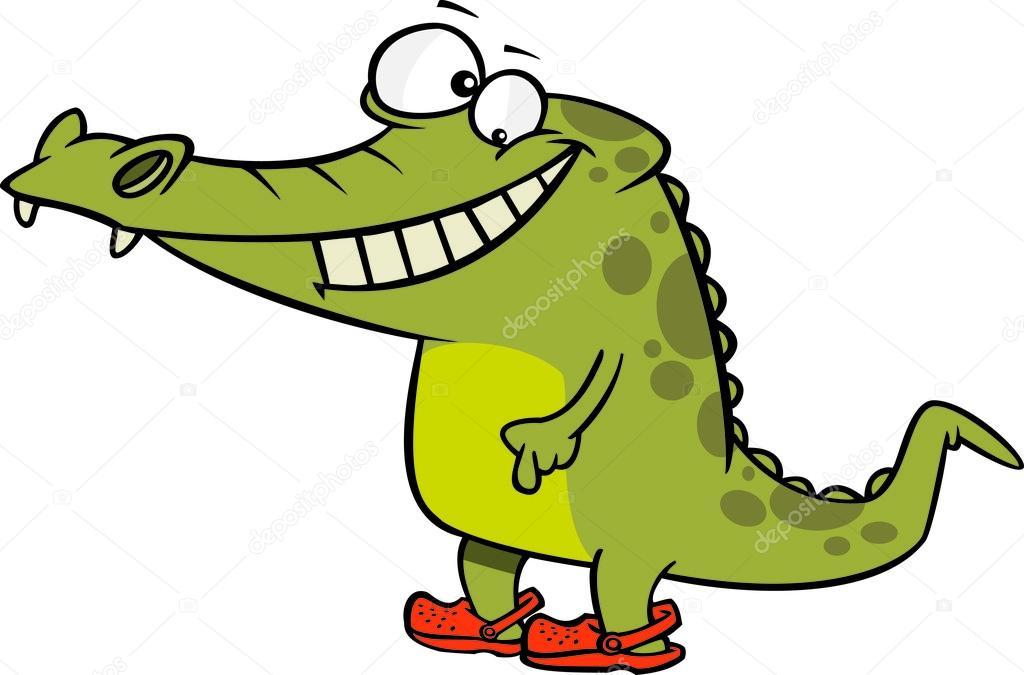Dessin anim crocodile crocs image vectorielle - Image crocodile dessin ...