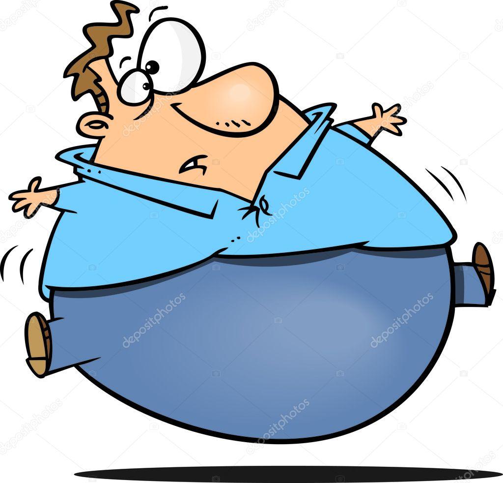 Animado Un Hombre Gordo Hombre Gordo De Dibujos Animados