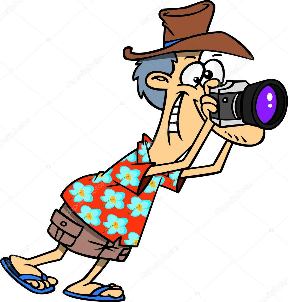 Cartoon Tourist Photographer — Stock Vector © ronleishman ...