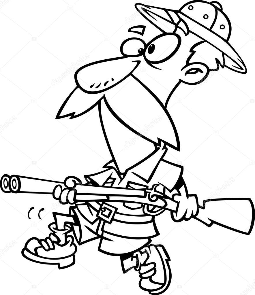 chasseur de gros gibier de dessin anim u00e9  u2014 image