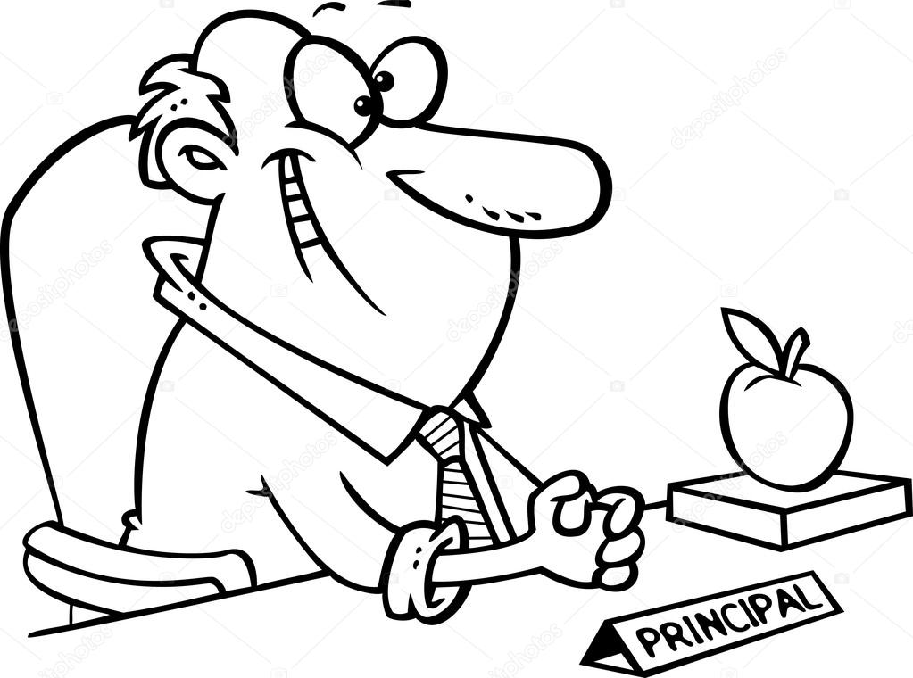Dibujos: escuelas para colorear | Vector de una directora de escuela ...