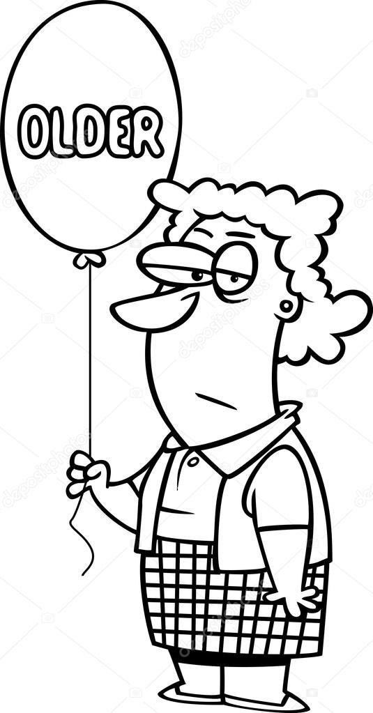 Cumpleaños mujer mayor | Vector de una mujer de cumpleaños dibujos ...
