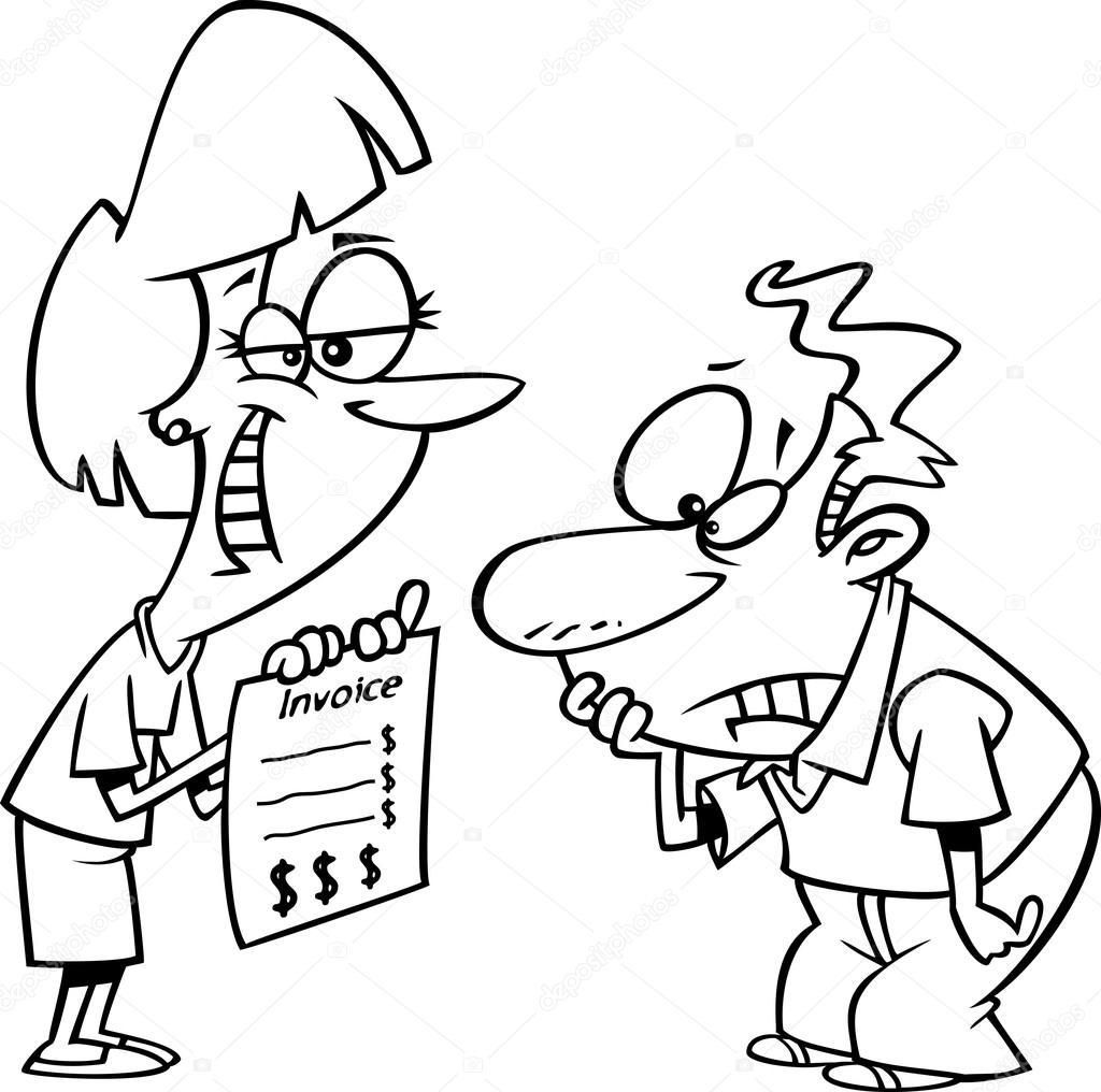 Vector de una mujer sonriente caricatura presenta a su cliente con ...
