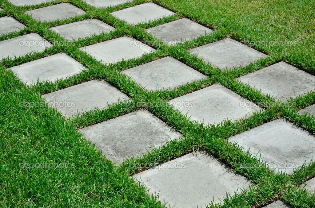 녹색 잔디에 디딤돌 스톡 사진 169 Debuskphoto 49502785