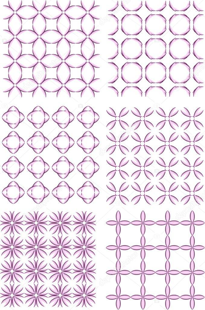 conjunto de patrones decorativos de papeles pintados y telas ...
