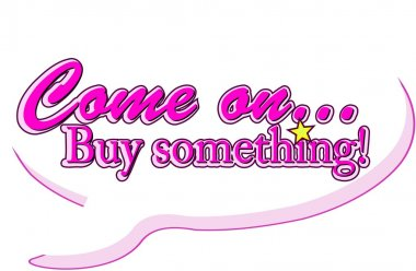 Buy something in balloon , marketing concept