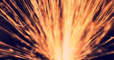 Flowing Sparks, abstract background