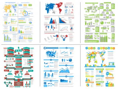 SIX INFOGRAPHIC DEMOGRAPHIC COLLECTION