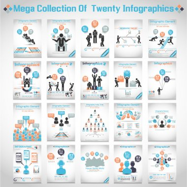 MEGA COLLECTIONS OF TEN MODERN ORIGAMI BUSINESS ICON MAN STYLE OPTIONS BANNER 3