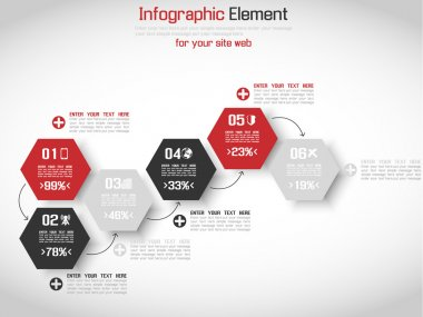MODERN ORIGAMI BUSINESS STYLE OPTIONS BANNER FOR WEB SITE RED