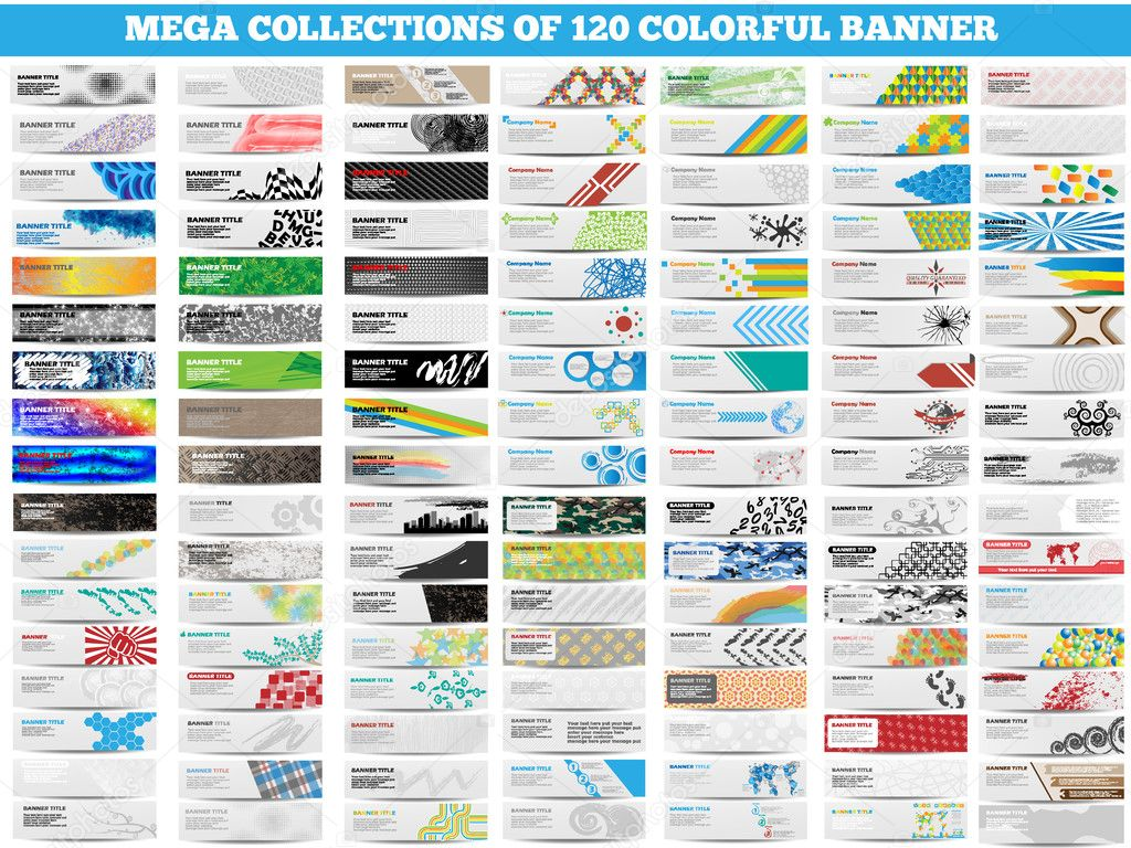 MEGA COLLECTION OF 120 COLORFUL BANNER