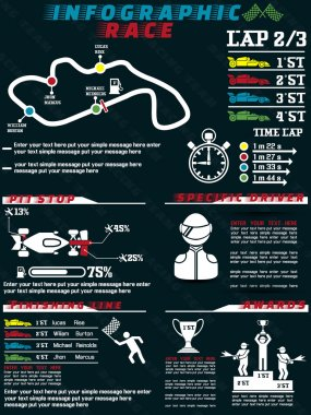 INFOGRAPHIC RACE CAR