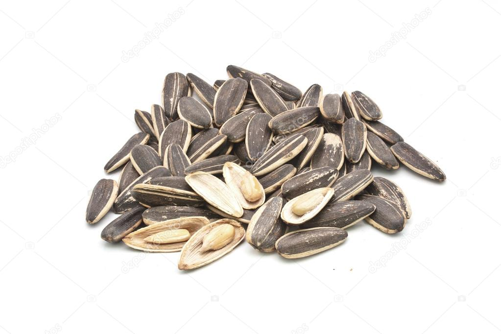 a pile of sunflower seeds