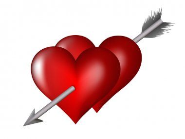 Heart impaled by arrow
