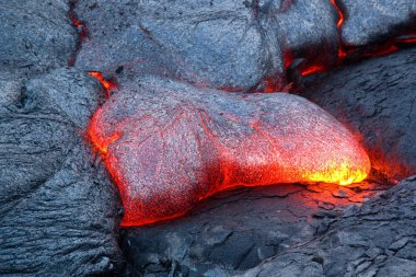 Active lava flow in Hawaii