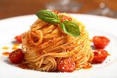 Italian pasta spaghetti with tomato