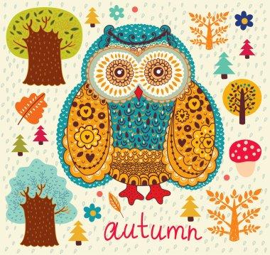 Background wiht owls