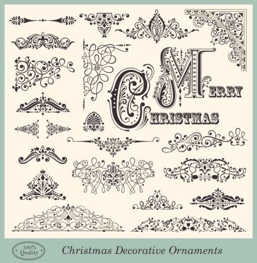Vector set of Vintage Ornaments and Design Elements