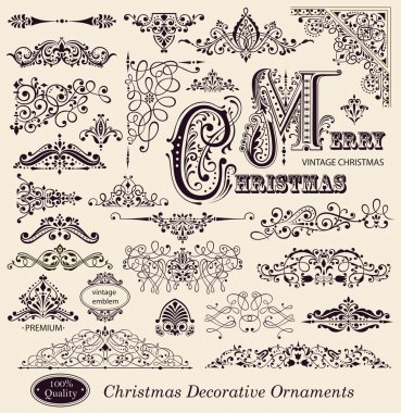 Vector set of Vintage Ornaments and Design Elements