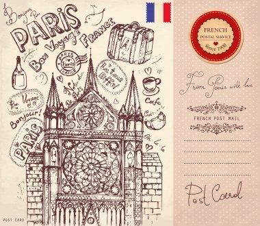 Pencil hand drawn illustration on theme travels