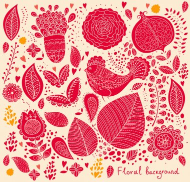 Vector detailed floral pattern