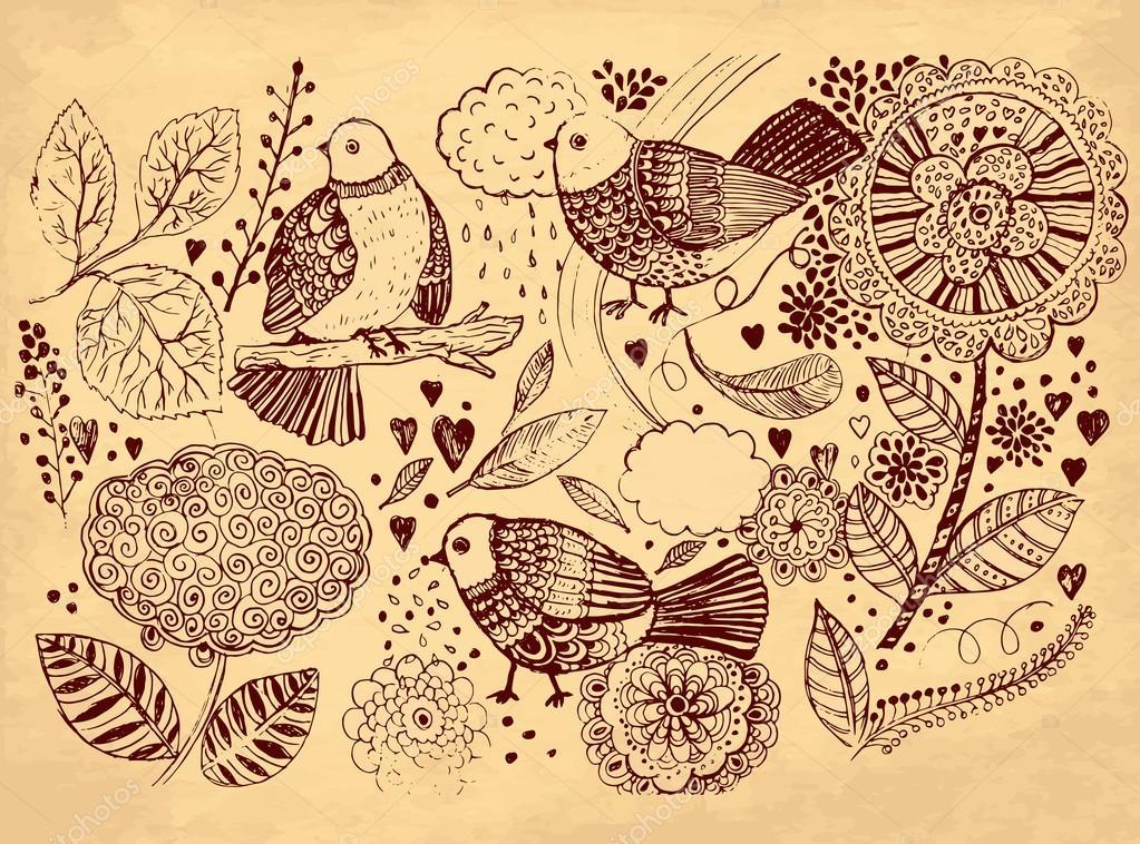 Ilustracion Vintage Vector Mano Dibujado Ilustracion Vintage Con