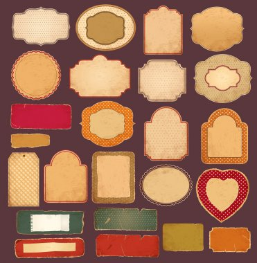 Vector collection: vintage and retro empty frames