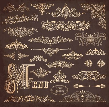 Vector set of ornaments