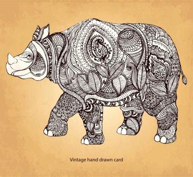 Decorative rhinoceros