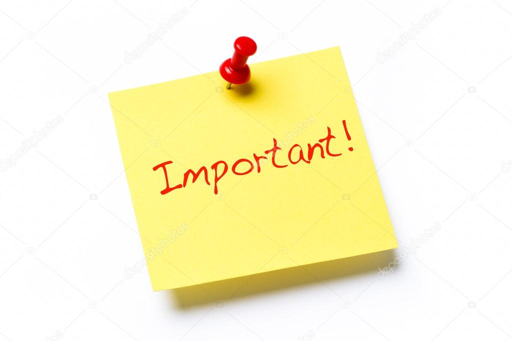 Image result for important note